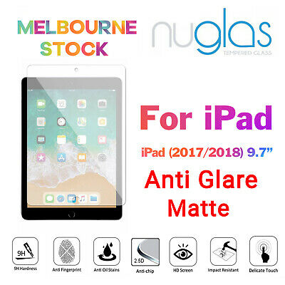 AU11.95 • Buy Nuglas For IPad 6th Gen 9.7 Inch 2018 Anti Glare Tempered Glass Screen Protector