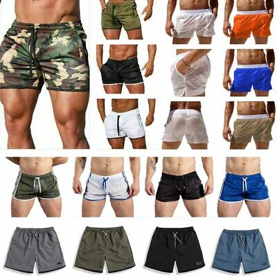 $9.61 • Buy Men's Fitness Sports Shorts Muscle Gym Workout Training Running Joggings Pants