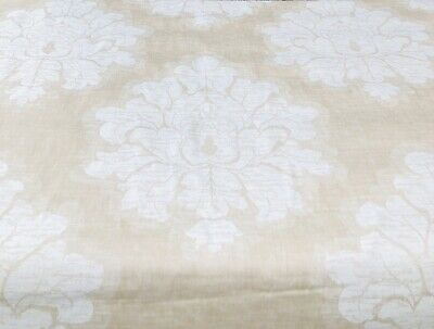 SUPER LUXURIOUS LIGHT TAUPE JACQUARD CURTAIN / SOFT FURNISHING FABRIC 3.2 Mts. • 64£