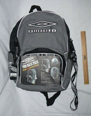 Umbro Grey And Black Backpack With Lanyard And Compartments, Perfect For School • 50£