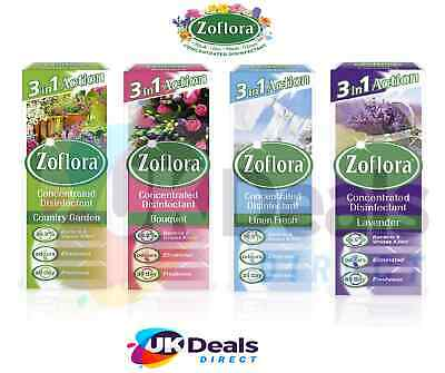 Zoflora 3 In 1 Action Concentrated Disinfectant 120ml - 500ml - Choice Of Scent • 4.75£