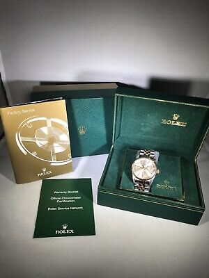 $ CDN6681.49 • Buy Preowned Rolex Oyster Perpetual Datejust 16013 36mm SS/18k Box & Booklets Mint