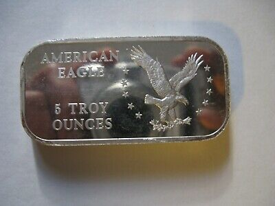 $ CDN250 • Buy Vintage Bar As&m American Eagle 5 Oz 999 Silver Bar