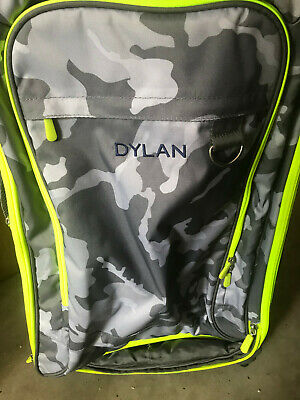 $ CDN75.38 • Buy  Pottery Barn Teen Get Away Getaway Gray Camo Checked Spinner Luggage MONO Dylan