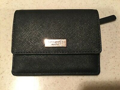 $ CDN46.12 • Buy Authentic Kate Spade Black Credit Card ID Key Chain All In One Wallet New