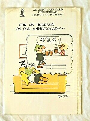 £3.25 • Buy Vintage 1980s Andy Capp By Reg Smythe Husband Anniversary Card-On The House