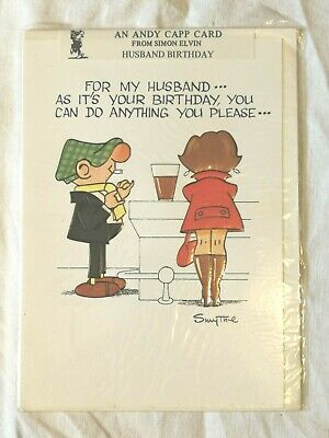 £3.25 • Buy Vintage 1980s Andy Capp By Reg Smythe Husband Birthday Card-Can Do Anything