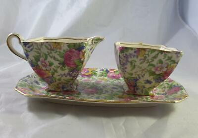 $ CDN40.02 • Buy Vintage 3-Pc Royal Winton Grimwades SUMMERTIME Chintz  Open Sugar Creamer & Tray