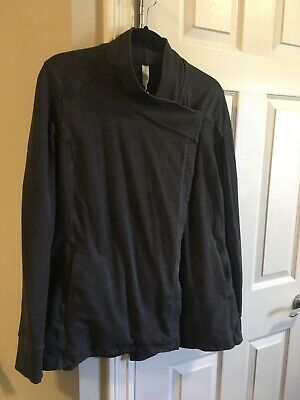 $ CDN69 • Buy EUC Lululemon Coast Wrap II Heathered Black Jacket Sweater 10