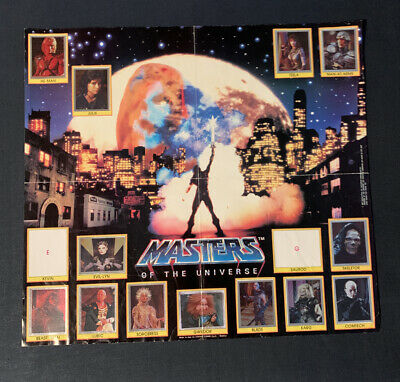 $75 • Buy Vintage 1987 Panini Masters Of The Universe Movie Sticker Poster Near Complete