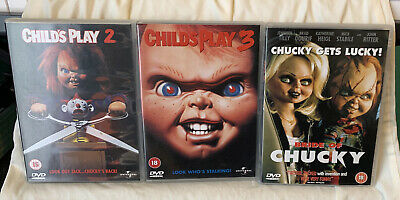 Bride Of Chucky Child's Play 2 Child's Play 3 Dvds • 22.50£