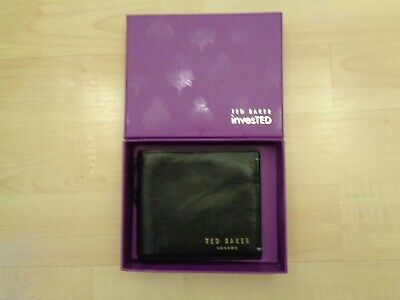 TED BAKER InvesTED LEATHER CARDS + NOTES WALLET • 20£