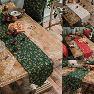 AU18.22 • Buy Christmas Table Runner Rectangle Tablecloth Decor Wedding Dining Party Covers