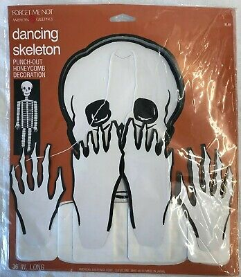 $ CDN26.36 • Buy Vintage Halloween American Greetings Dancing Skeleton Decor Lot Of 1- 2 Pack
