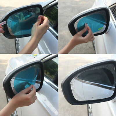 Oval Car Anti Fog Rainproof Rearview Mirror Protective Film Accessories 2Pcs • 3.03£