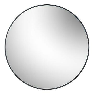 Round Framed Wall Mirror Metallic Vanity Decoration Bedroom Hallway 80cm Black • 56.99£