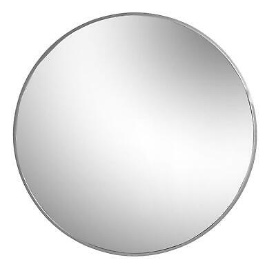 Round Framed Wall Mirror Metallic Vanity Decoration Bedroom Hallway 80cm Silver • 56.99£