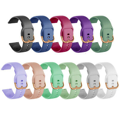 AU4.76 • Buy Replacement For Samsung Galaxy Watch Active 2 Silicone Wrist Band Strap 20mm