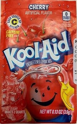 Kool Aid Cherry Flavour Drink Mix Sachet 3.6g US Import UK Seller • 1.88£