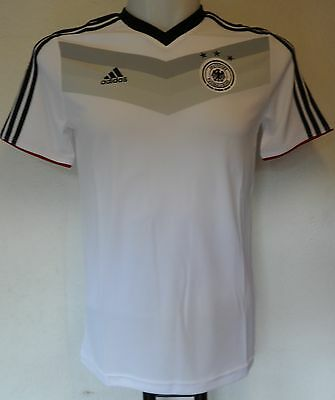 Germany S/s White Home Tee Shirt By Adidas Size Boys 9-10 Years Brand New  • 17.99£