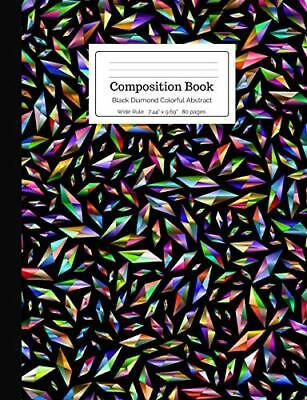 Composition Book Black Diamond Colorful Abstrac. Notebooks<| • 8.32£