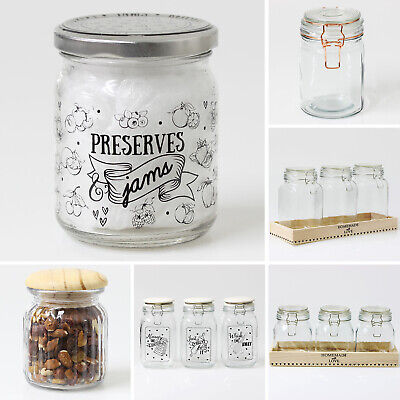 Sifcon Pickle Jam Preserve Jar Airtight Lid Glass Storage Jars Food Container • 12.95£