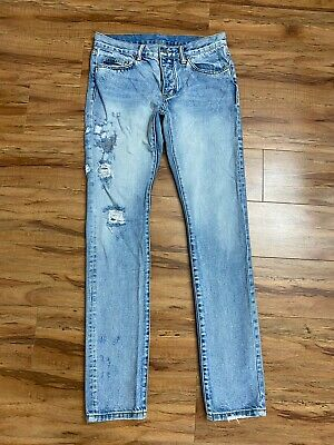 $ CDN34.89 • Buy Mnml Men Jeans Size 32 Distressed Button-fly