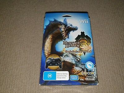 AU59.95 • Buy Monster Hunter 3 Tri Classic Controller Pro Pack Nintendo Wii Game + Controller