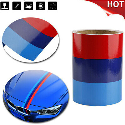 $8.72 • Buy 5FT 1.5M Car M-Colored Door Body Decorative Stripe Sticker Decal Vinyl For BMW