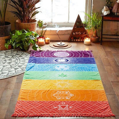 Colorful Tapestry Towel Yoga Mat Fitness Summer Beach Blanket Tapestry Brand New • 8.45£