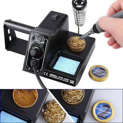 Soldering Iron Station 60W LED Digital Temperature Rework Variable Stand Kit • 24.99£