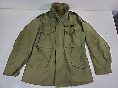 $45 • Buy Vtg 70s Vietnam US Army Military M-65 Field Coat Jacket Size Small Short Cold