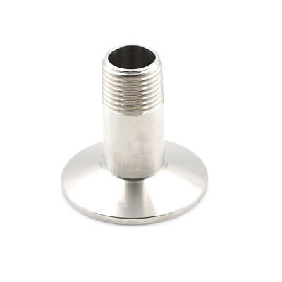 AU7.62 • Buy 1/2  Sanitary Male Threaded NPT Ferrule Pipe Fitting To 1.5  Tri-Clamp SS304NWHH