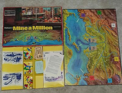 Vintage Waddington's 1965 Mine A Million Business Game - Game Pieces & Parts 10 • 2.95£