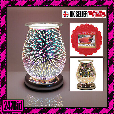 Electric Wax Melt Burner 3d Starburst With Touch Control And Yankee Candle Melt • 24.95£