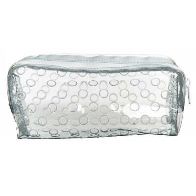 £7.99 • Buy WHSmith Clear Chunky Embossed Polka Dot Pencil Case With White Zip Fastening