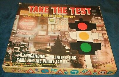 TAKE THE TEST EDUCATIONAL BOARD GAME BY PETER PAN 1967 Game Pieces & Parts (26) • 1.99£