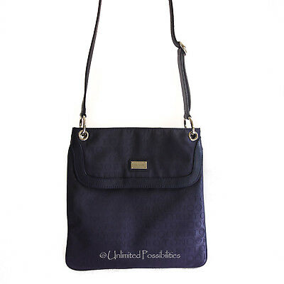 AU229.90 • Buy NEW OROTON Stencil Crossbody Shoulder Bag Navy Leather Navy Jacq Tags Dustbag