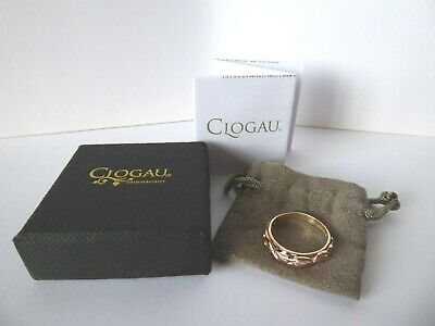 Clogau Welsh Gold, 9ct Yellow & Rose Gold Tree Of Life Band Ring, Size K 1/2 • 178£