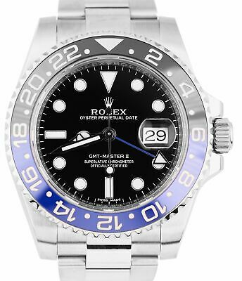 $ CDN18012.89 • Buy 2018 MINT Rolex GMT Master II Batman Blue Black Ceramic 116710 BLNR 40mm Watch
