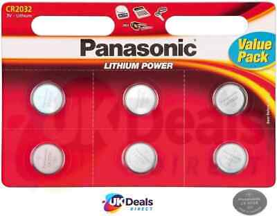 Panasonic CR2032 Lithium Coin Cell 2032 3V Battery Car Key Fobs Toys Remote • 3.48£
