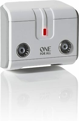 £12.77 • Buy One For All Signal Booster/Splitter For TV - 2 Outputs 14x Amplified - Plug NEW*
