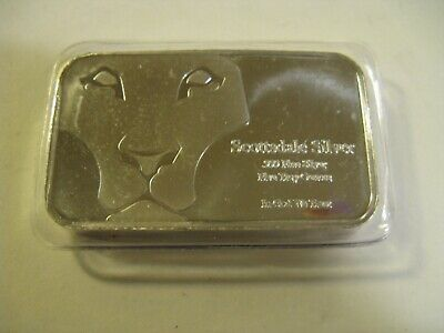 $ CDN250 • Buy  5 Oz Silver Bar - Scottsdale Mint (Lion Prey) - Sealed