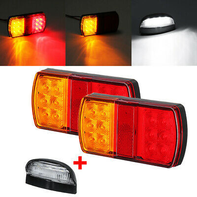 AU25.99 • Buy 2pc 12LED Marine Trailer Pair Of Lights + Number Plate Light Kit Submersible🇦🇺