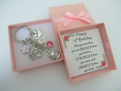 13th BIRTHDAY Gifts Charm Keyring For Daughter Sister Niece Friend Cosin • 4.99£