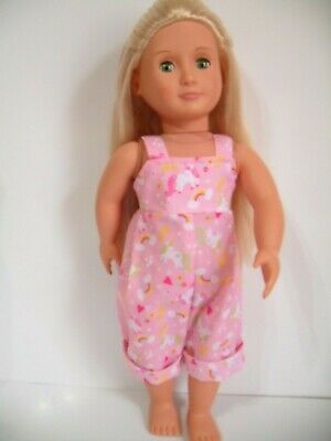18  Dolls Clothes  Unicorn Play Suit Made To Fit Our Generation American Girl • 4.99£