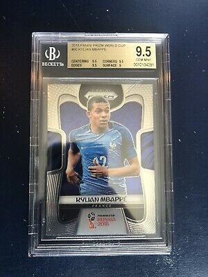 $ CDN869.82 • Buy 2018 Panini Prizm World Cup Kylian Mbappe Rookie BGS 9.5 GEM MINT HOT!!