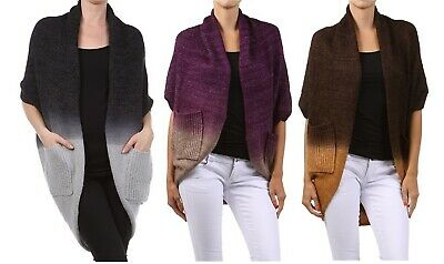 $32 • Buy M.Rena Open Ombre Cocoon Knit Cardigan