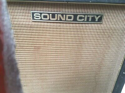 Power City Sound City Pulsonic Cone 12'inch Speakers X4 In Vintage 60's Cab • 500£