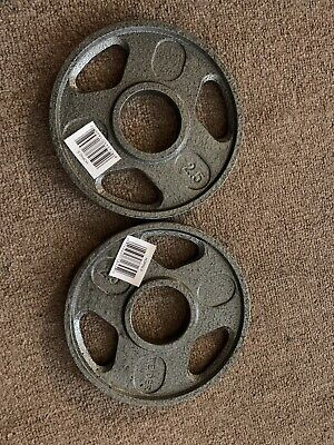 $ CDN18.75 • Buy Two New Weider 2.5lb Olympic 2  Weight Plates 5 Lb Total SHIPS FAST